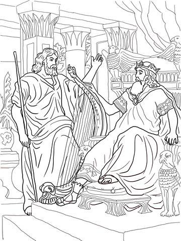 King David And Nathan Coloring Page Coloring Pages David Bible