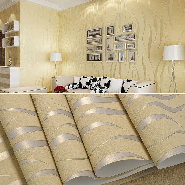 3D Living Room Wallpaper | Products | Pinterest | Living room ...
