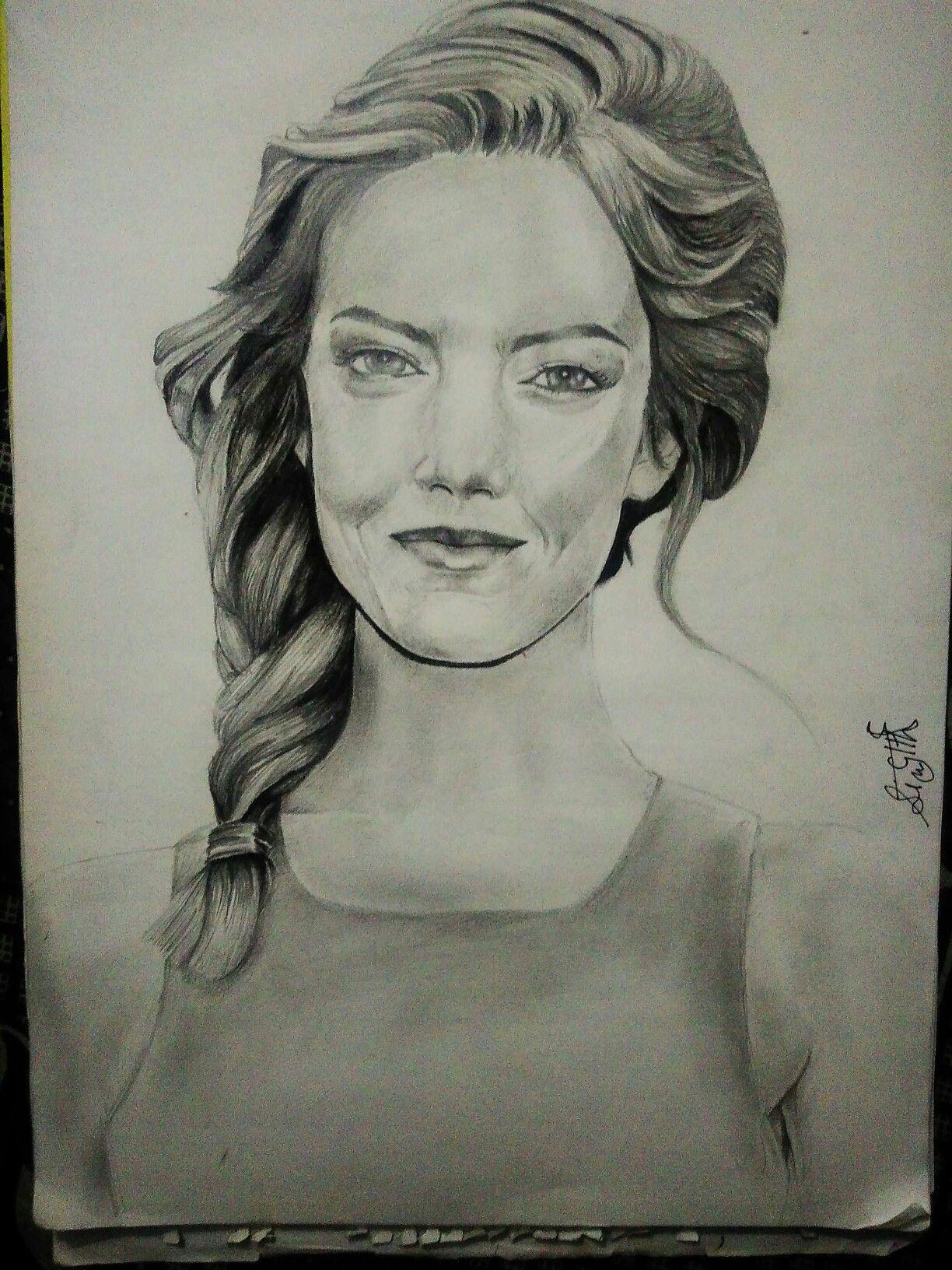 #portrait #charcoal #pencil