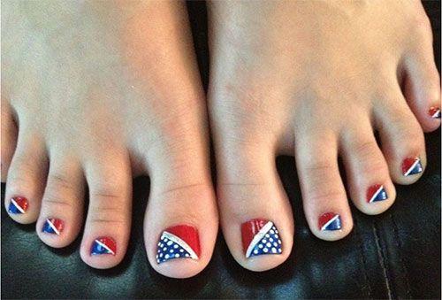 Fourth Of July Toe Nail Art Fourth Of July Toe Nail Art