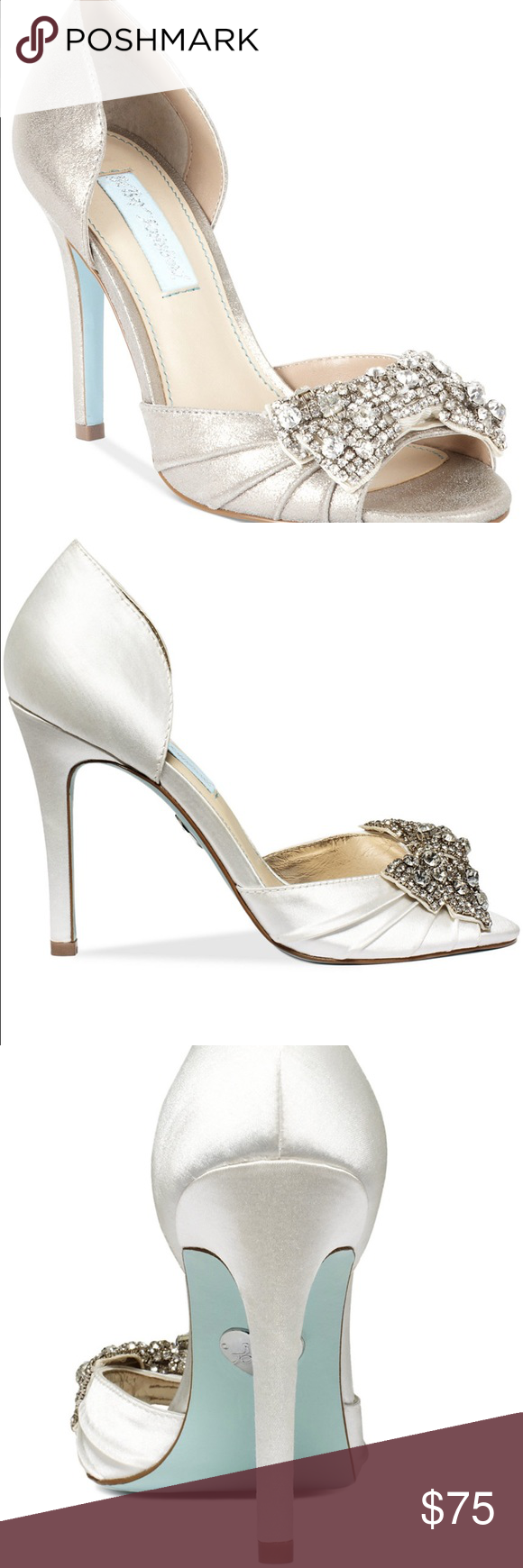 Lowest! Blue by Betsey Johnson Gown Evening Pumps The Gown evening ...