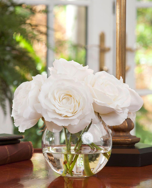 Rose Nosegay Silk Flower Arrangement Nosegay Clear