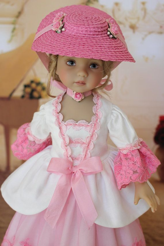 PDF Blooming Roses Dress Pattern for 13 Dianna Effner Little Darling Dolls by Doll Heirloom Designs
