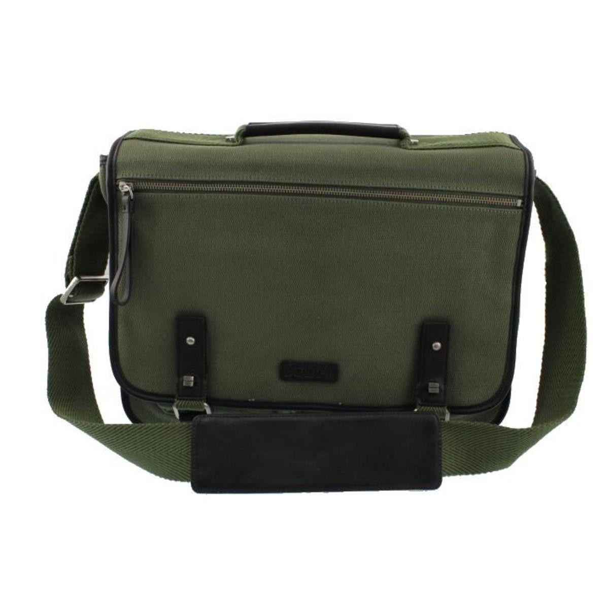 Canvas Leather Trim Laptop Bag