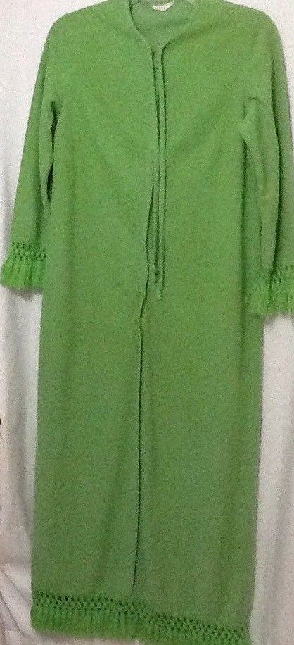 7b899d4e96 vintage sears and roebuck Women s Fringe Green Robe  Sears  Vintage   Everyday