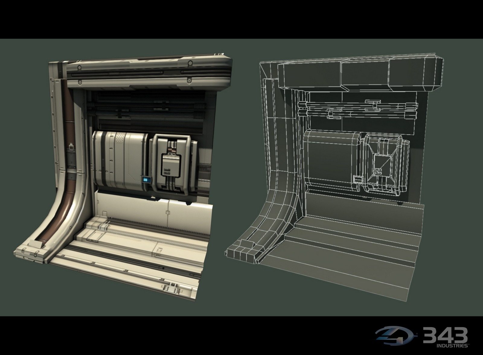 Fr33d Halo 4 Renders Hard Surface Props Environment