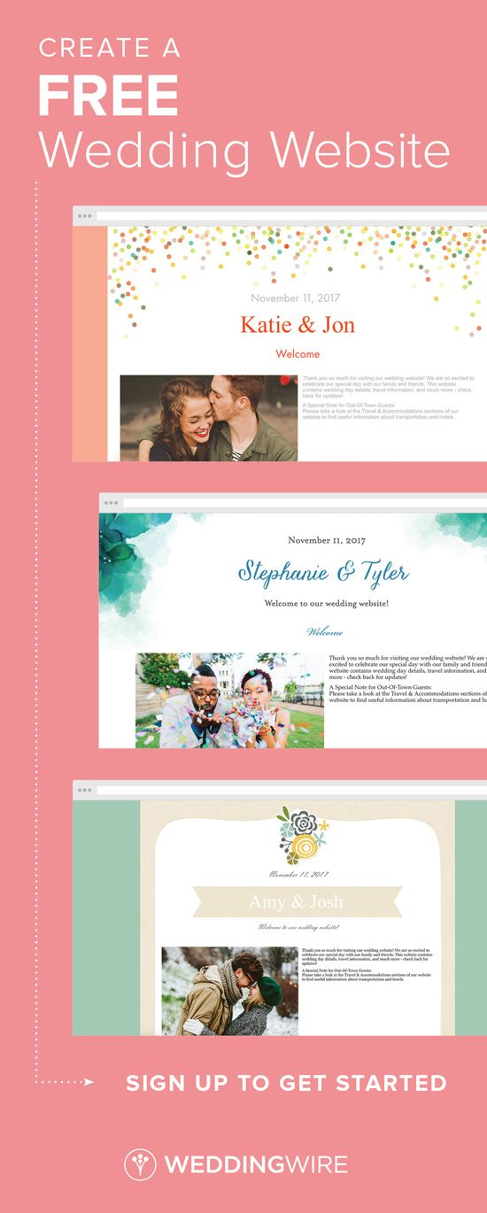 Sign Up To Begin Designing Your Wedding Website Get Free Budget And Checklist Help When You Create An Account