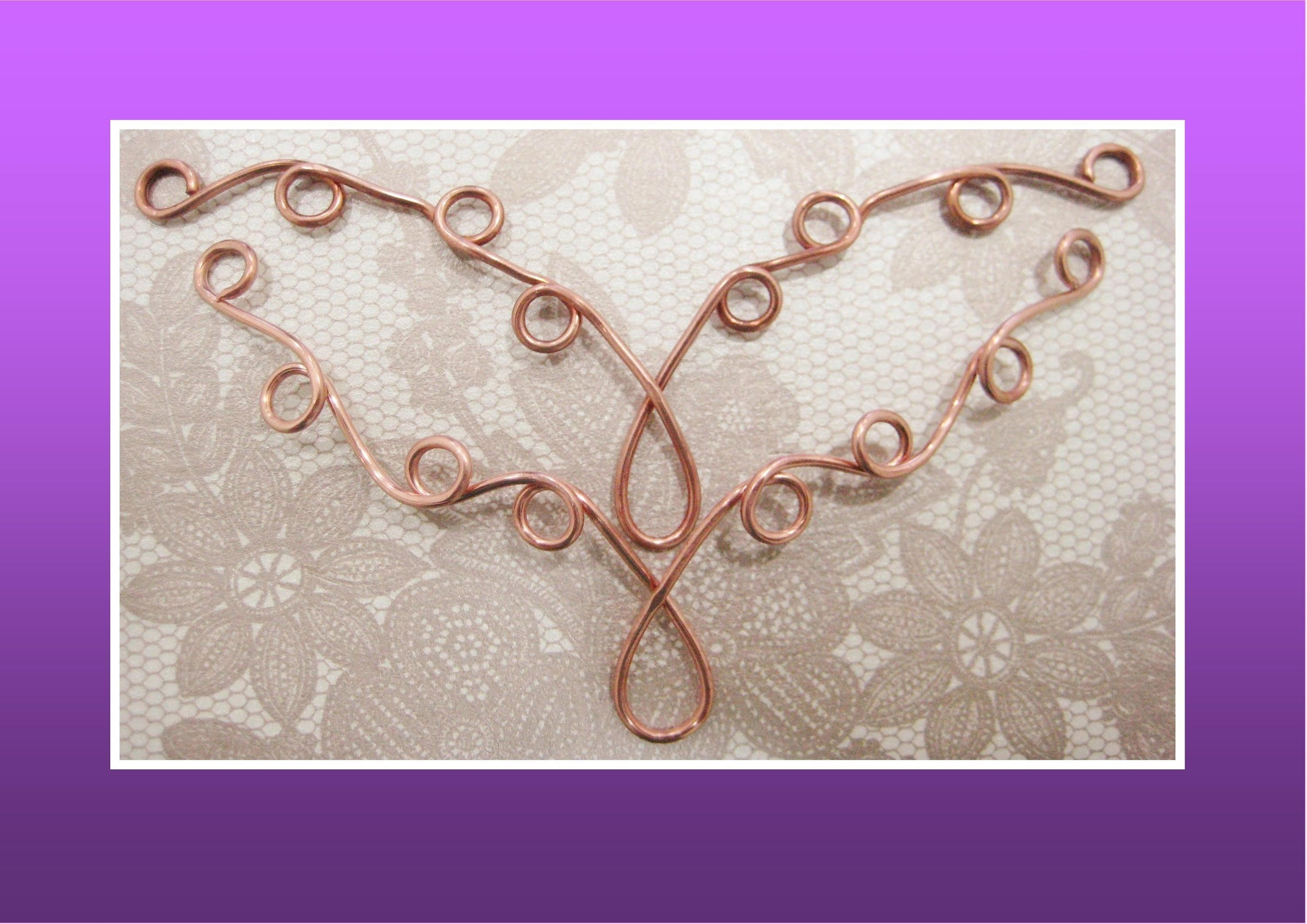 How to make Necklace Component   wire wrapping, weaving & more free ...