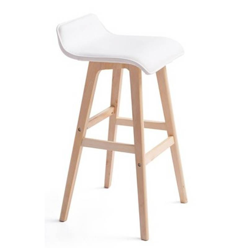 Pu Leather Fabric Wooden Bar Stool 6 Colours 74cm In 2020 Bar