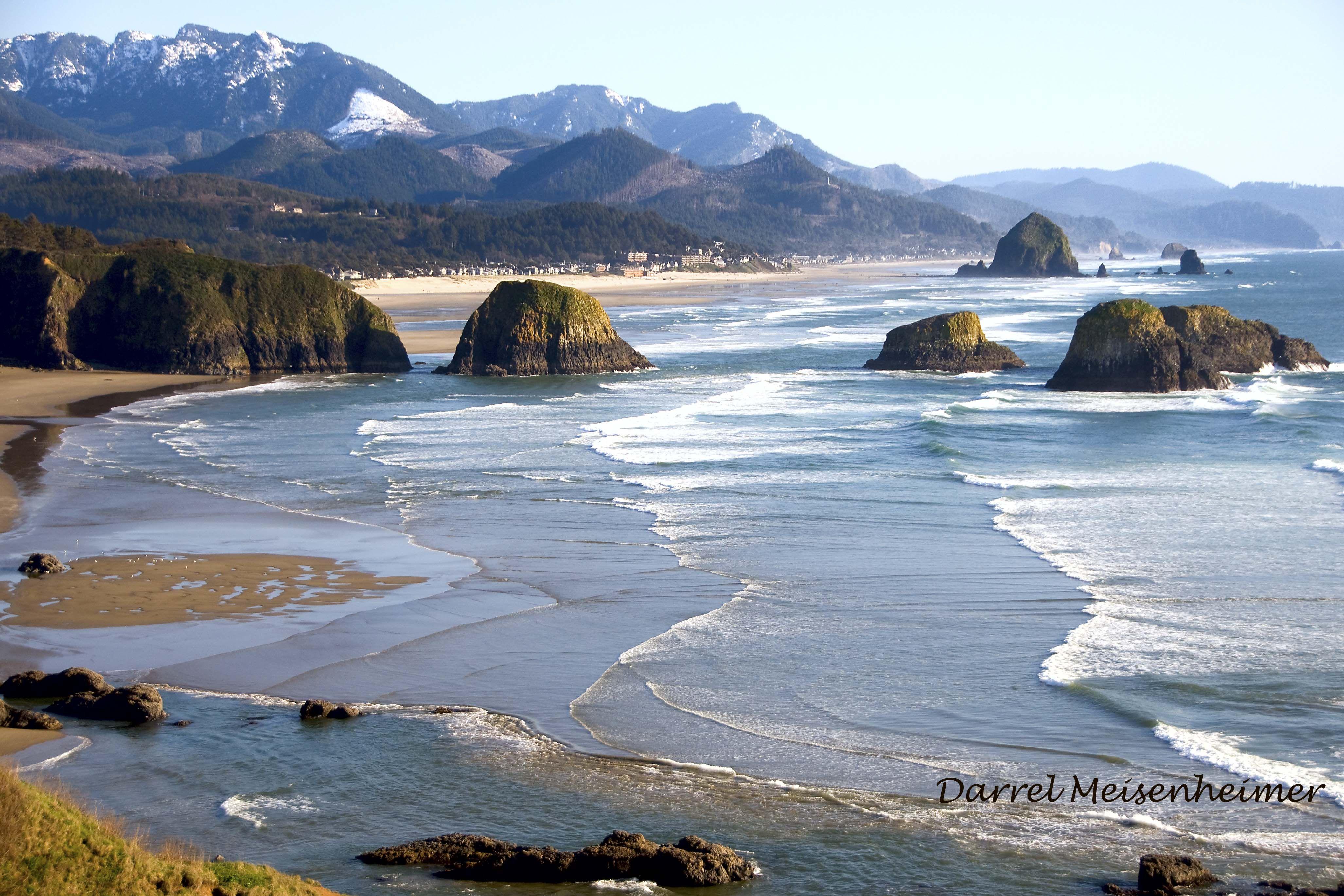 Canon Beach Oregon, from Ecola State Park | Canon beach ...