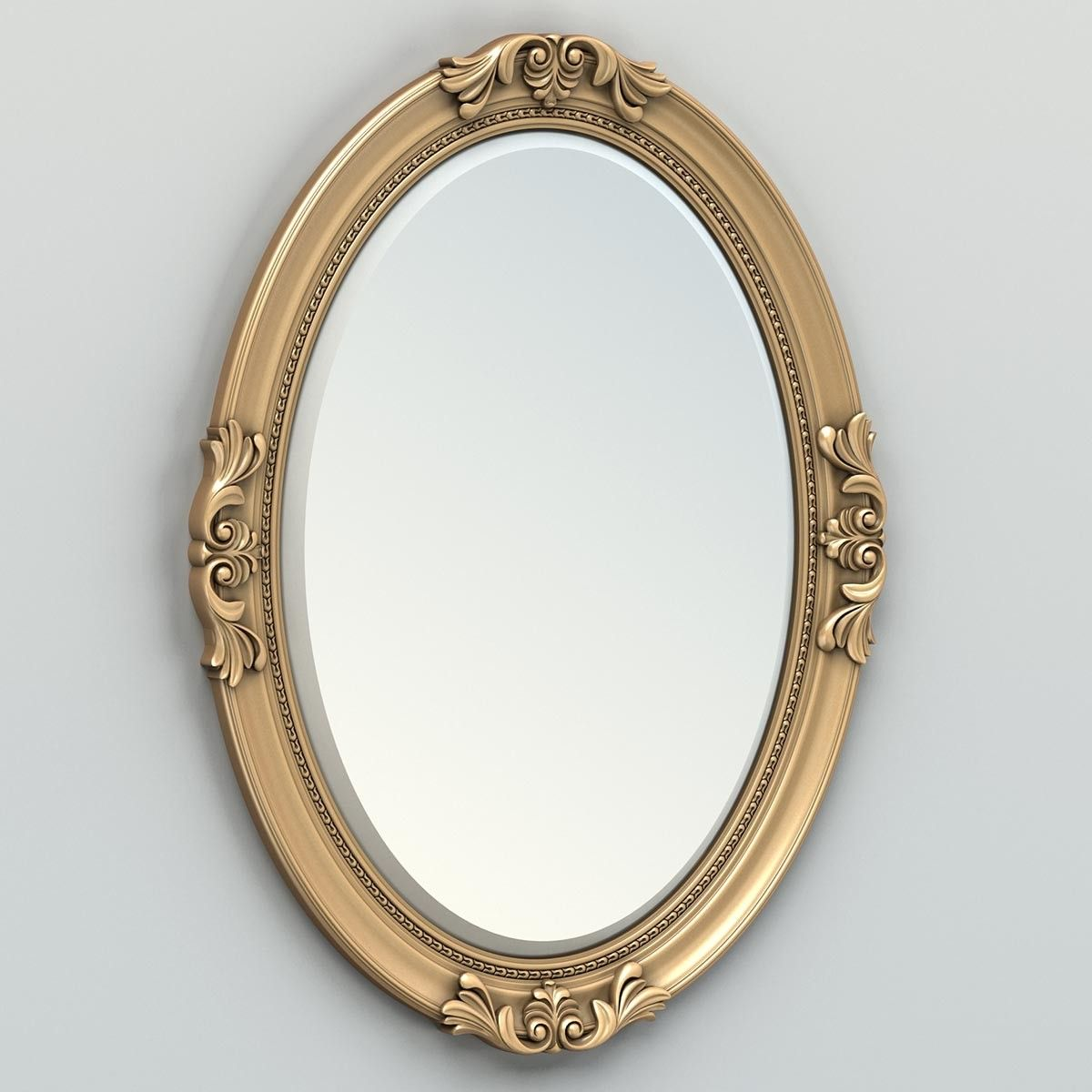 carved oval mirror frame 3d max | Mirror frames, Oval ...