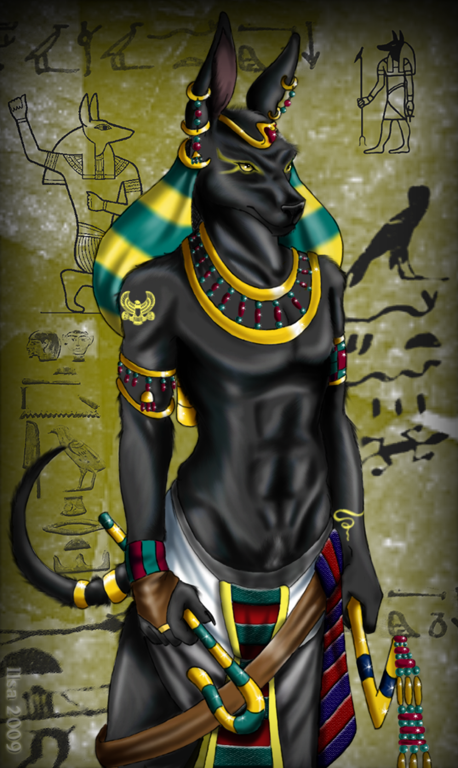 Jackal Head Tattoo anubis - Google Search...