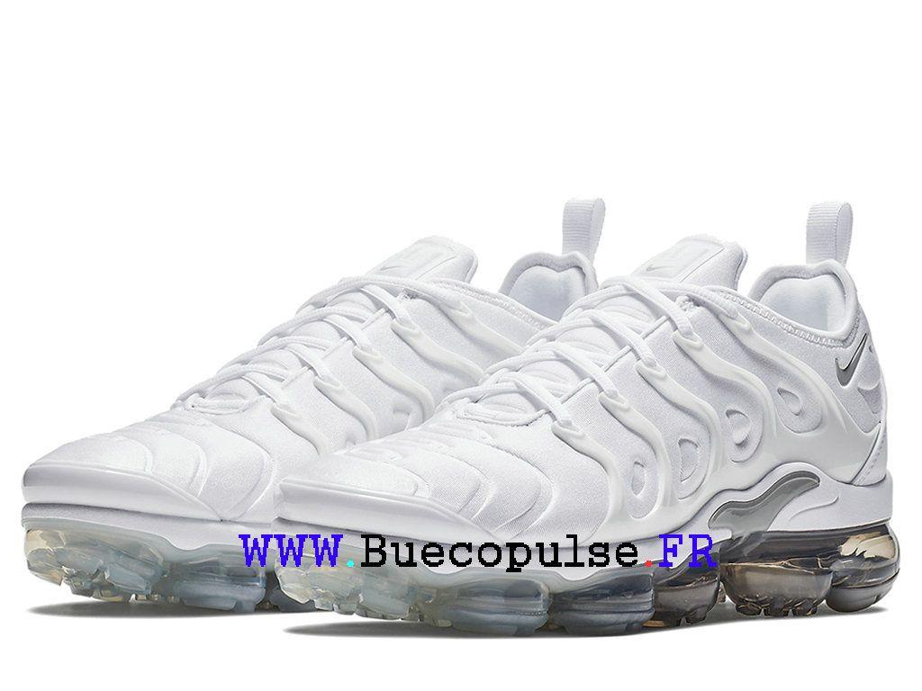 online store 33ad3 03319 Nike Air VaporMax Plus TN Officiel Classique Coussin Dair Pas Cher Pour  Homme Gris blanc 924453