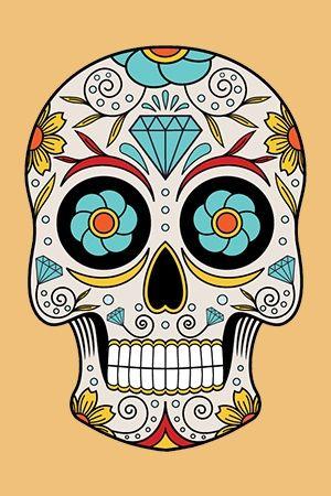 880bb118e42c6 Mexican Skull Tattoo in 2019 | Sugar skull art | Mexican skull ...