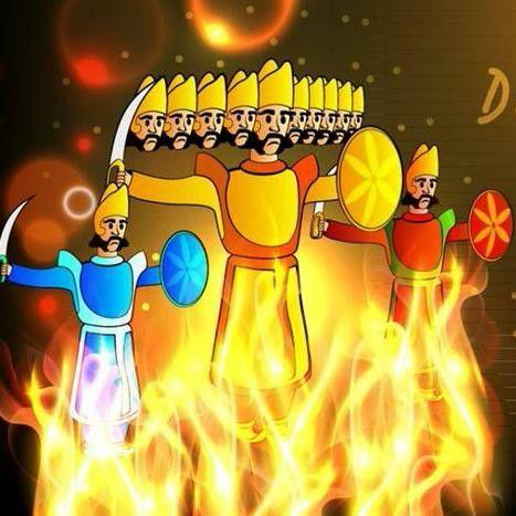 Happy Dusshera Dashanan Ravan Meghnath Kumbhkaran