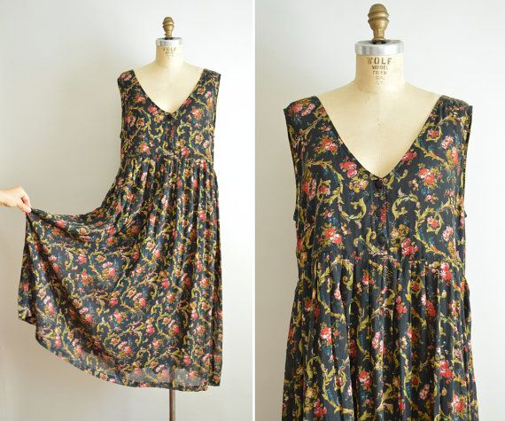 Made in India Dress Floral Print 1990s Casual Dress