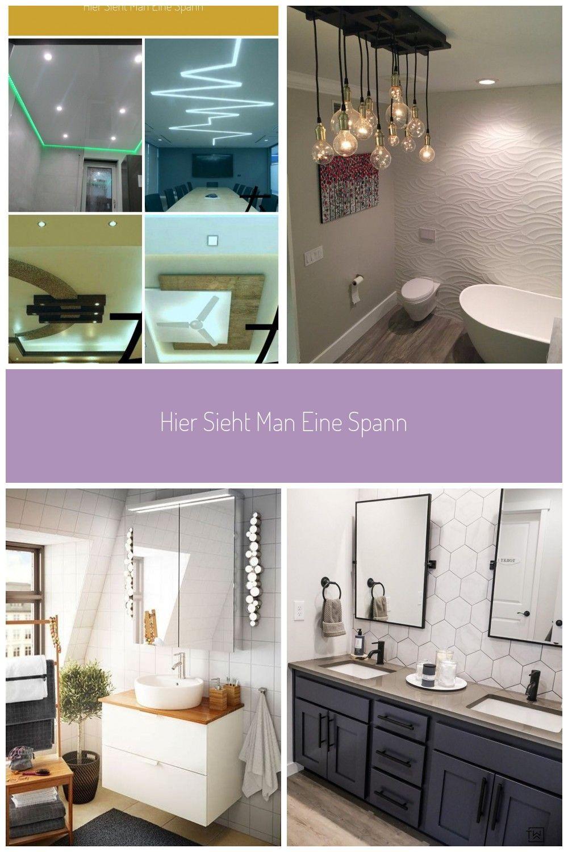 Hier Sieht Man Eine Spanndecke Mit Indirekter Beleuchtung In Einem Badezimmer Al Badezimmer Beleuchtung In 2020 Badezimmer Stil Badezimmer Badezimmerbeleuchtung