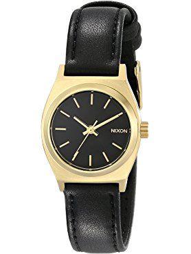 Nixon Women's A509010 Small Time Teller Leather Watch ❤ Nixon Inc.