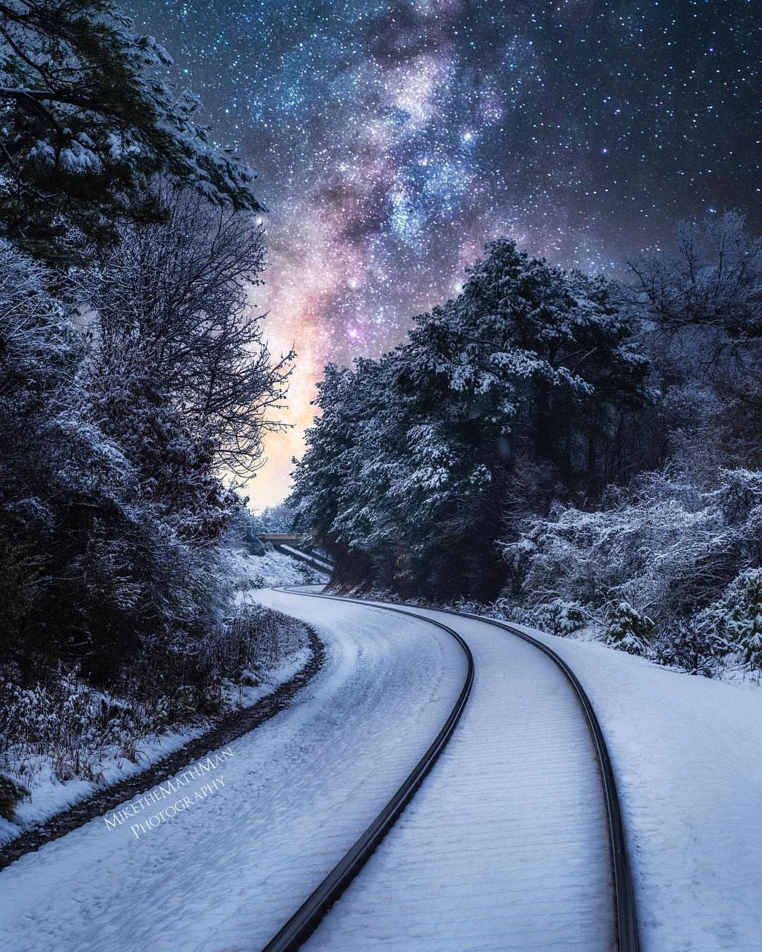 Photography Landscape On Instagram The Amazing Winter Landscape In The Night Wh With Images Winter Landscape Winter Landscape Photography Winter Snow Photography