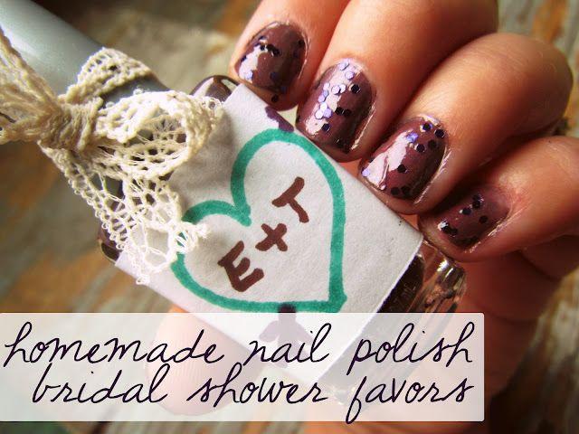 homemade nail polish bridal shower favors