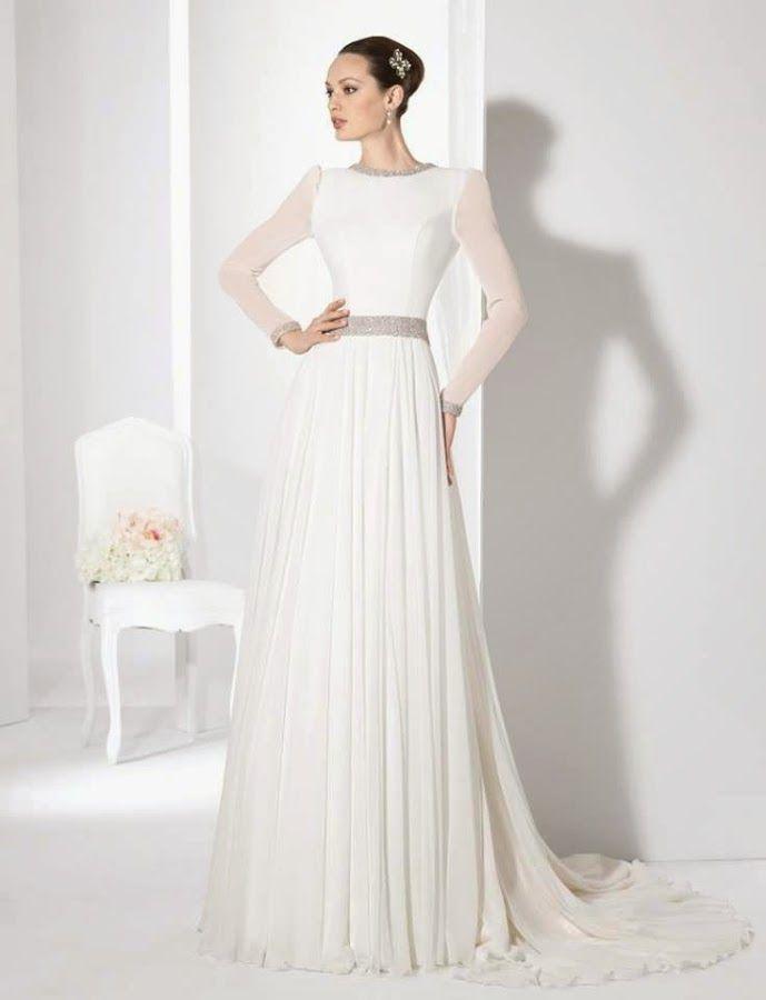 10 vestidos de novia de manga larga: ¡elegantes y con clase! | boda