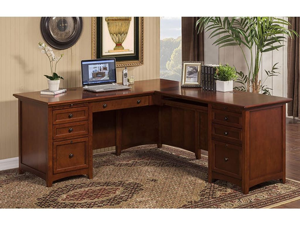 Winners Only Home Office 72 Inches Desk With 48 Inches Return Gfc272r L Shaped Executive Desk Executive Desk Solid Wood Desk
