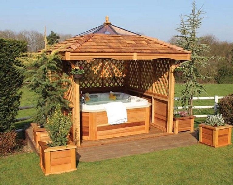 32 Beautiful Outdoor Hot Tub Privacy Ideas Hot Tub Gazebo Hot