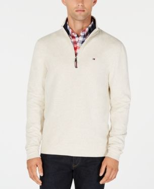 b70e4198e Tommy Hilfiger Men s Winston Mock-Neck Sweater