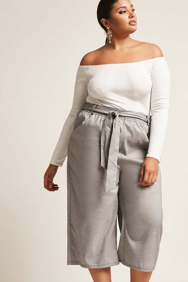9f42d9f33d1d0 FOREVER 21+ Plus Size High Rise Wide Leg Capri Pants  fashion  Plussize  ad   womenswear