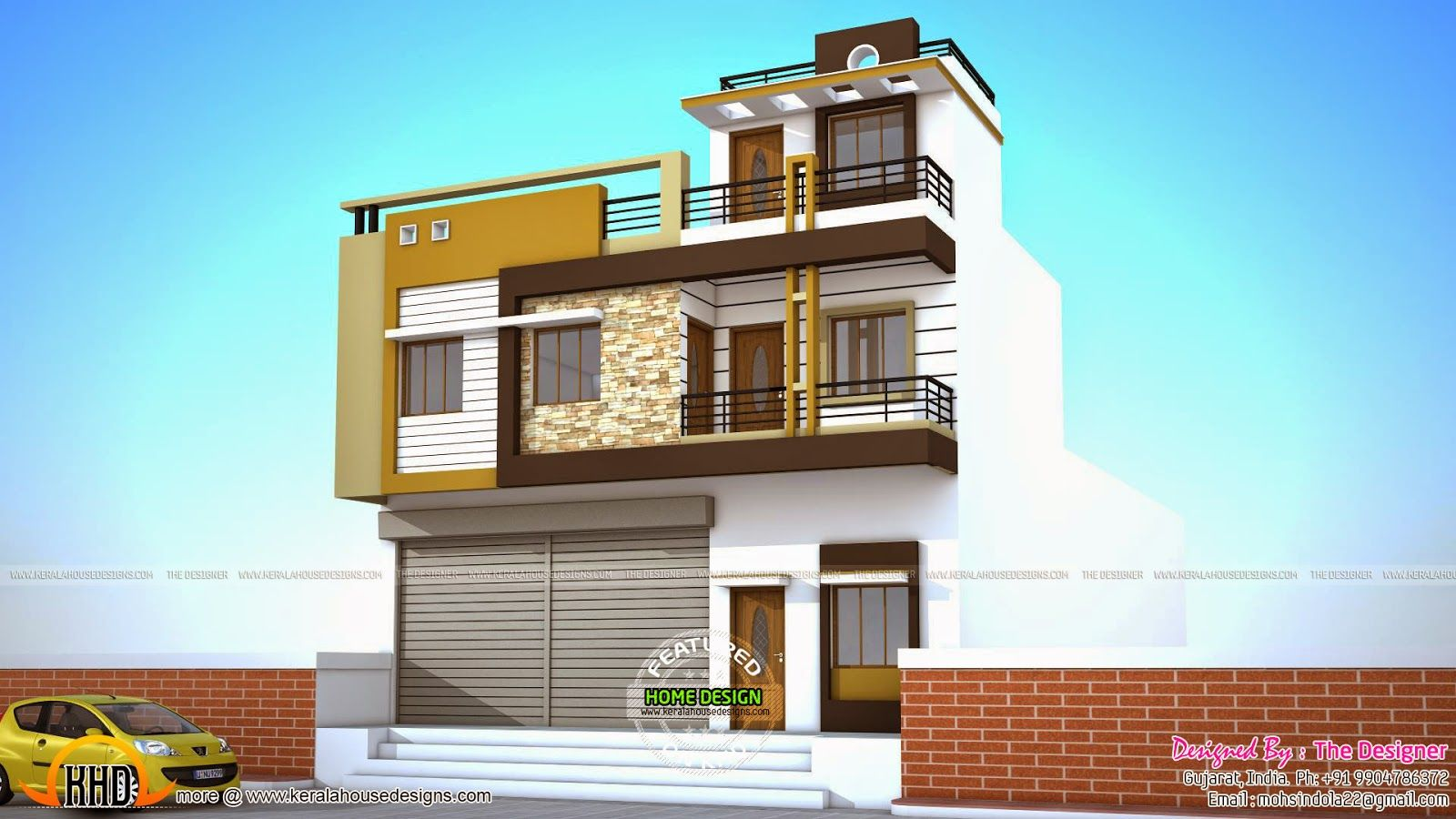 2 house plans with shops on ground floor house ground for Home plans and designs