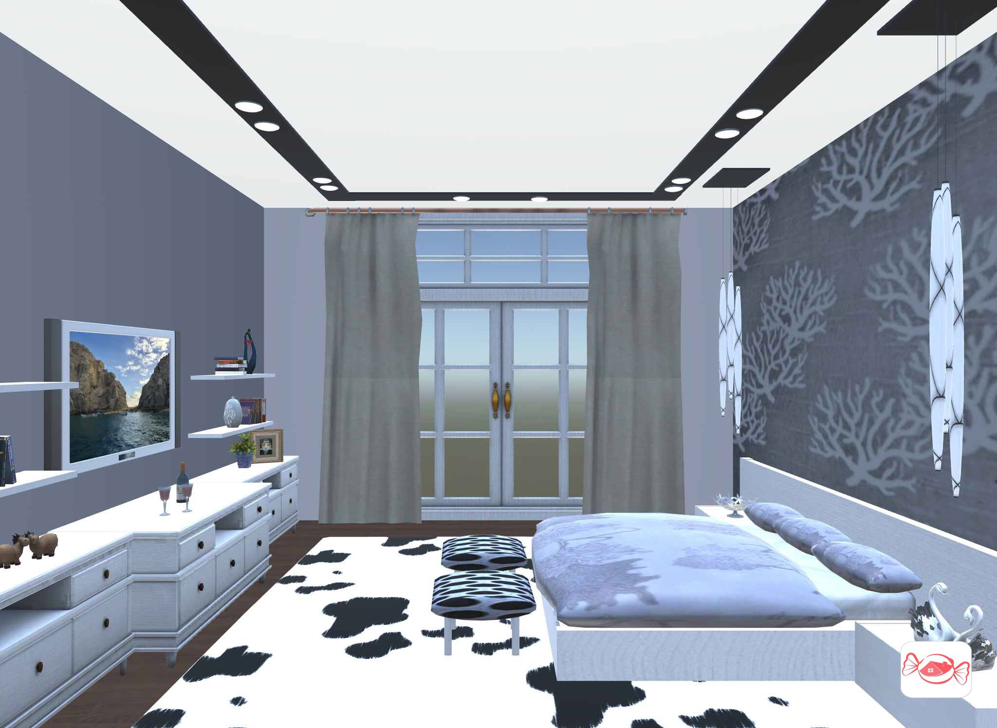 Luxury bedroom created with Home Sweet Home 3D app