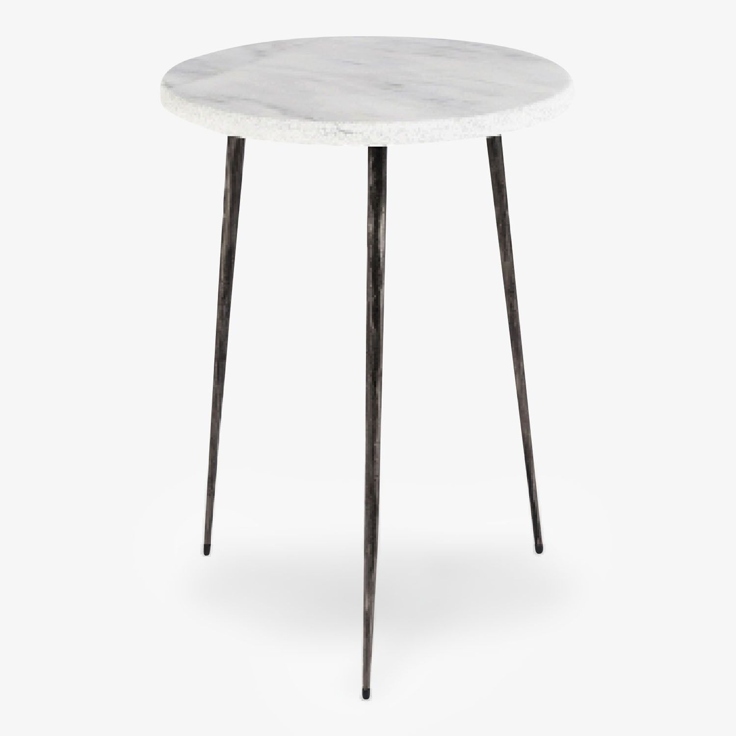Fresco Small Marble Side Table White
