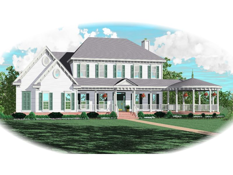 Arvilla Victorian Farmhouse Wrap Around Porch With Gazebo Adds Curb Appeal From Houseplansandmore