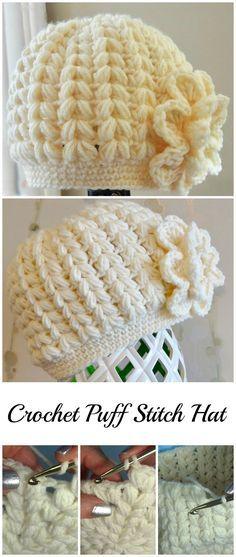 Crochet Puff Stitch Hat Stitch Crochet And Free Pattern