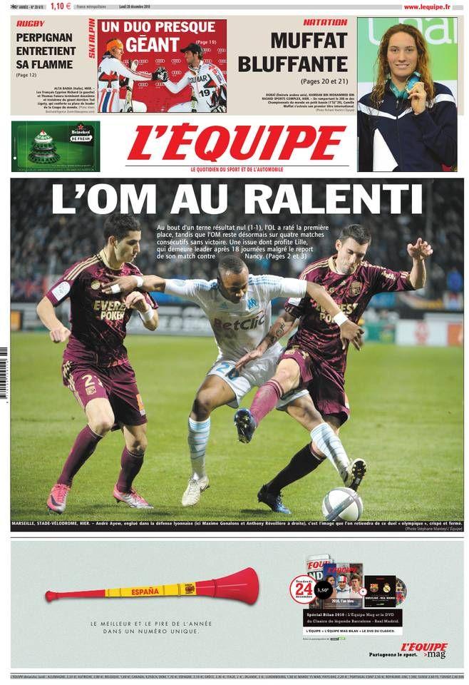 L'Équipe - Lundi 20 Décembre 2010 - N° 20615