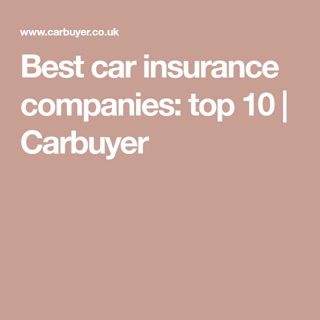 Driver Power 2019 The Best Car Insurance Companies Revealed With
