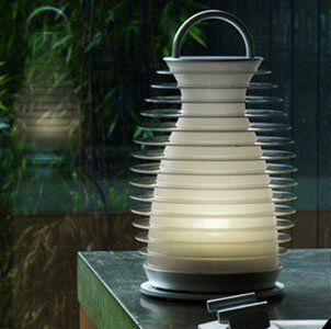 Mathmos Bump Rechargeable Portable LED Lantern W 4 Light Settings for Indoor/outdoor Use by Mathmos. $87.00. Mathmos Bump is a portable, rechargeable lantern with a unique 'bump' switch mechanism which allows you to choose between 4 light settings.  Bump is splash proof and makes an ideal garden light for summer entertaining but is also an elegant, child friendly all year round portable indoor light.  Bump for color changing or white light Bump has 4 settings. A quick bu...