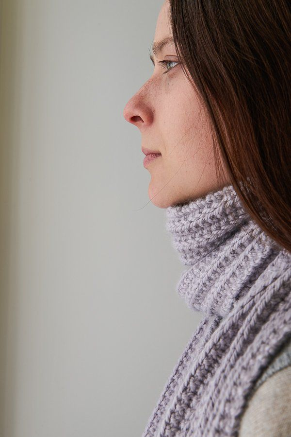 No-Purl Ribbed Scarf, Now in Lavender Opal | Purl Soho | Crochet ...