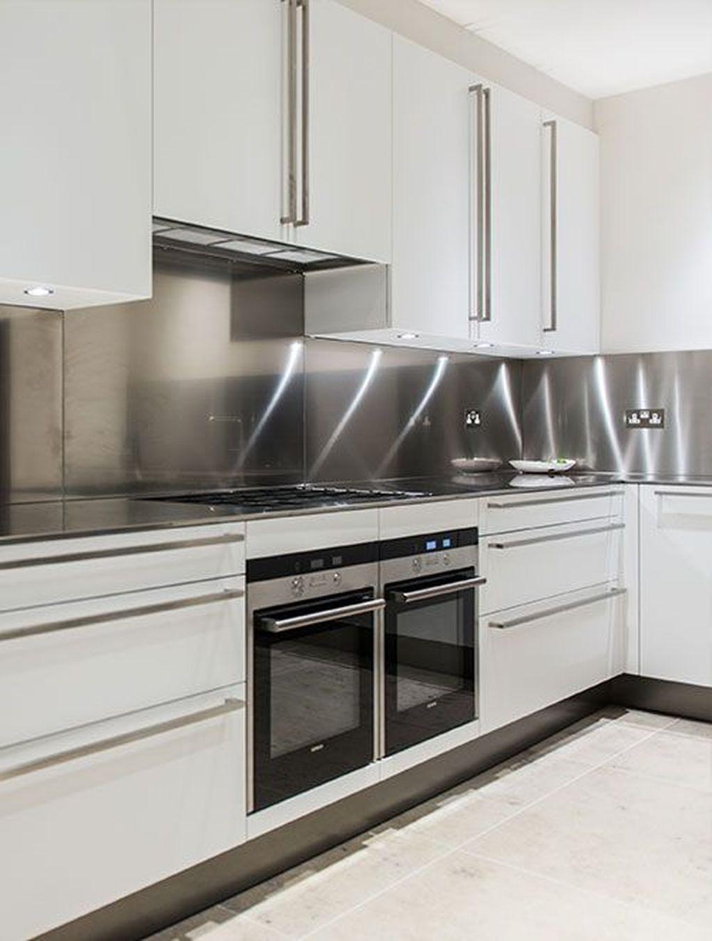 45 Creative Kitchen Cabinet Design Ideas With Stainless Steel Kitchen Cabinet Design Modern Kitchen Modern Kitchen Design