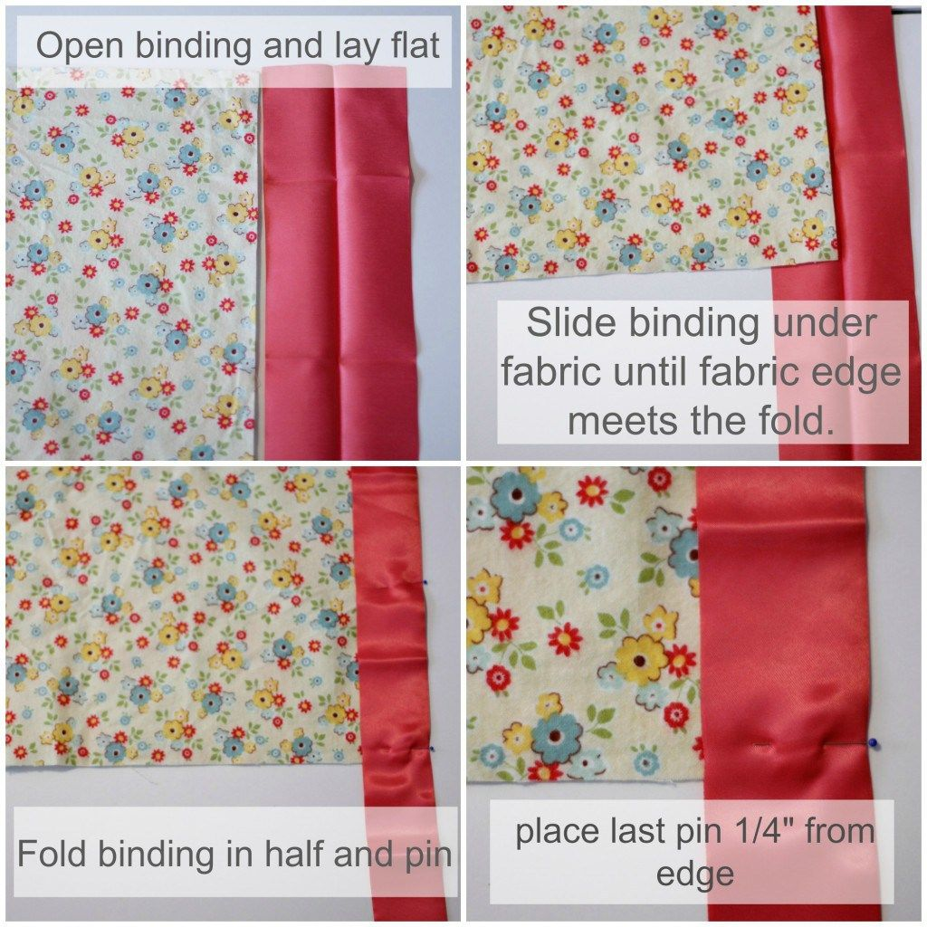 How To Sew Blanket Binding On A Flannel Baby Blanket