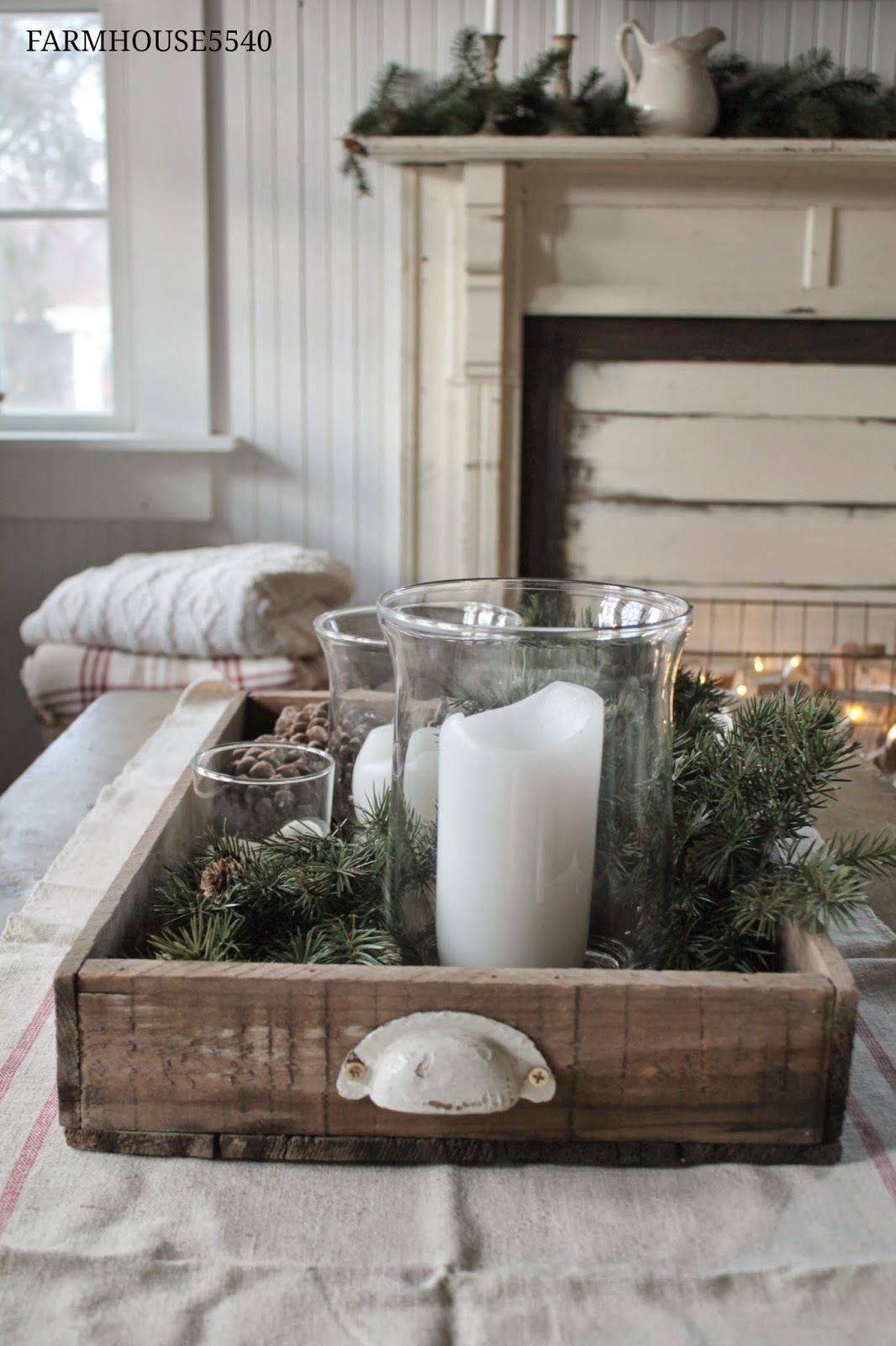 Farmhouse 5540 Christmas Decorating Sneak Peak Country Christmas Decorations Christmas Table Centerpieces Farmhouse Christmas Decor