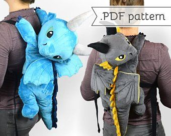 Plush Backpack Sewing Pattern .pdf Tutorial Stuffed Animal Cat | Etsy