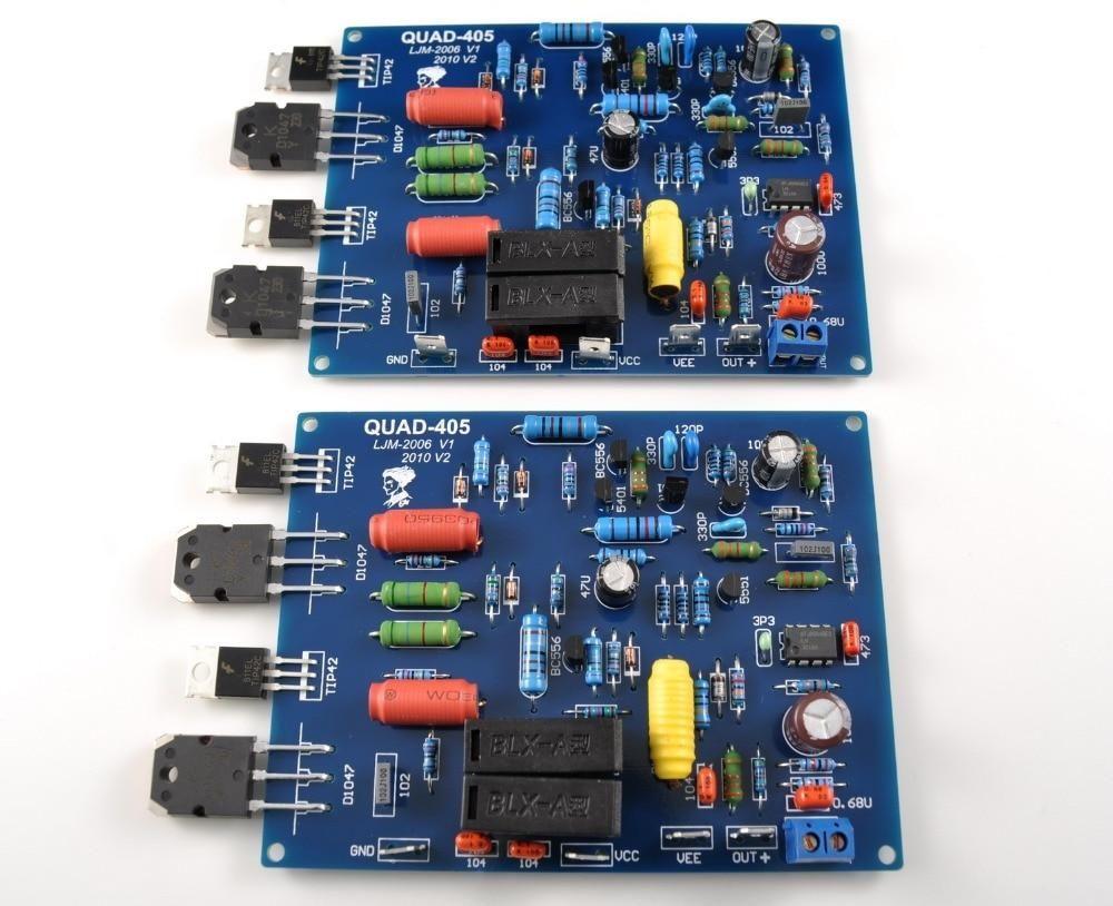 2019 的 2pcs QUAD405 Audio Power Amplifier Board 100W*2