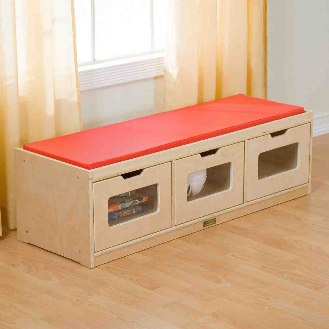 Large Of Storage Bench With Cushion