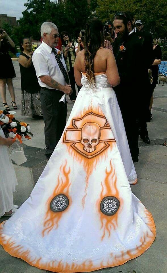 cute harley wedding gown
