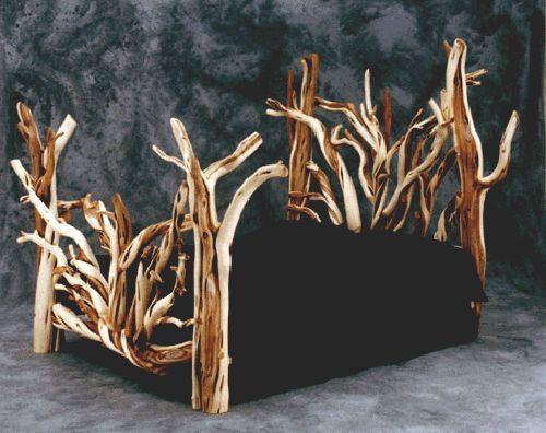 Juniper Log Bed Rustic Furniture Rustic Log Furniture Rustic