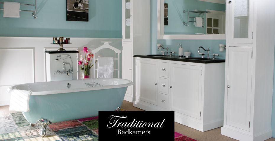 Badkamer Showroom Leerdam : Prachtig resultaat met vintage blauw van heck badkamers @ middag