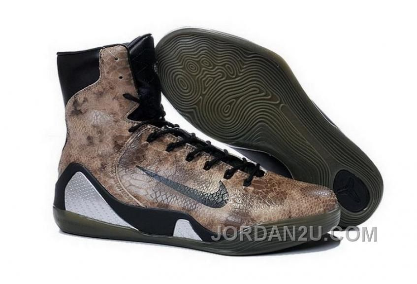 san francisco d2fca 93aef ... sweden buy cheap nike kobe 9 high 2015 snakeskin brown black mens shoes  best drcw5jg price