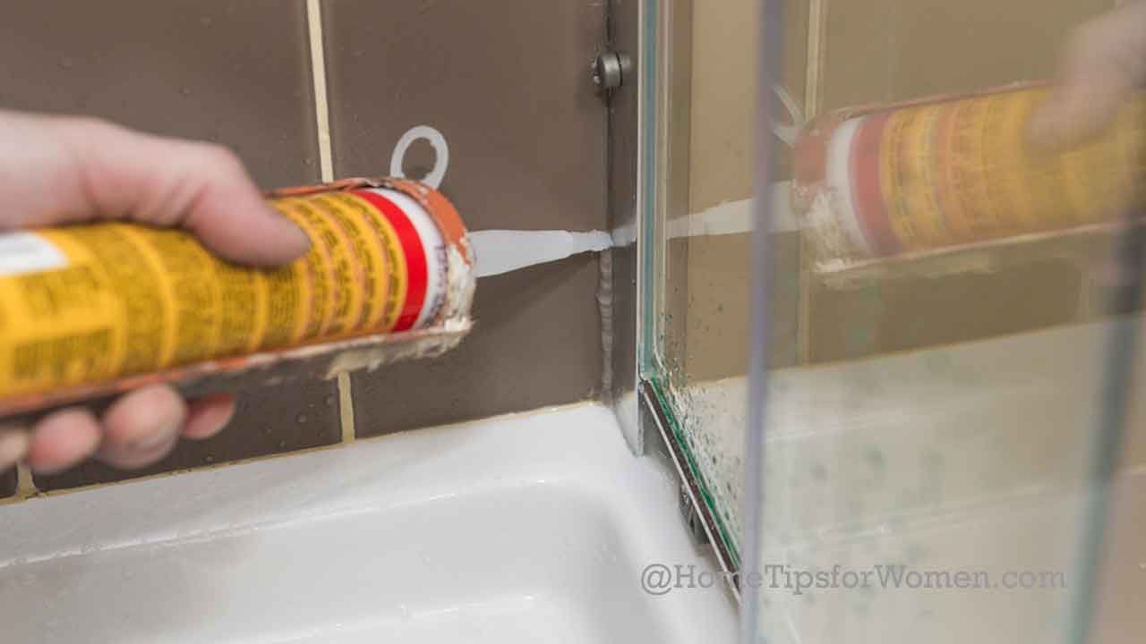Bathroom Caulking When Your Shower Door Leaks What To Do New House Shower