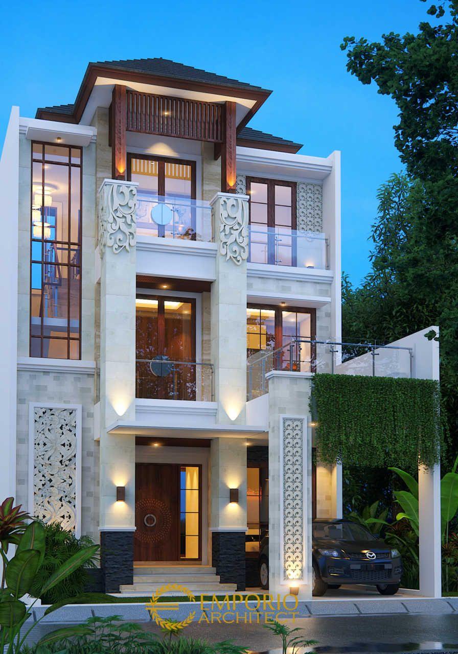Desain Rumah Villa Bali 3 Lantai Ibu Sri Di Batam Jasa Arsitek Desain Rumah Berkualitas Desain V Desain Rumah Kecil Desain Rumah Bungalow Desain Depan Rumah